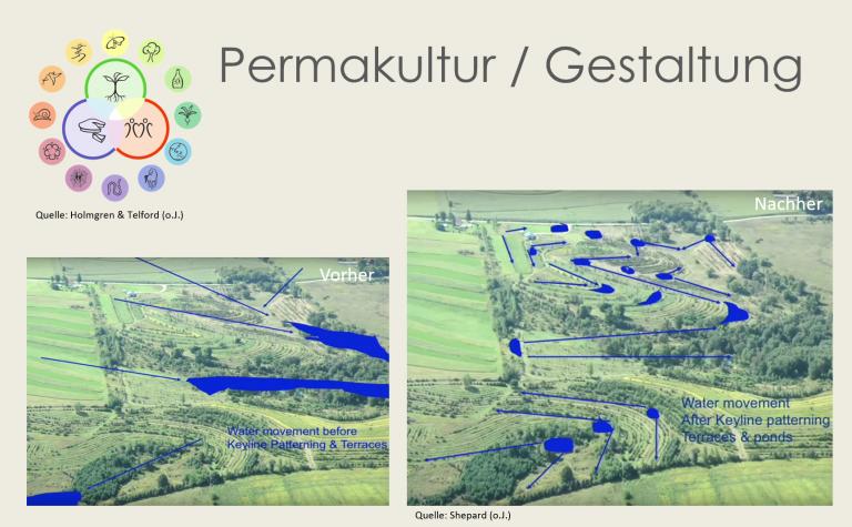 Permakultur bietet umfassende Methoden zur Gestaltung von Landschaften für Biodiversität